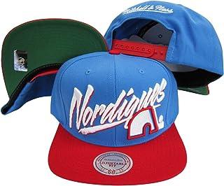 Quebec Nordiques Diagonal Script Blue/Red Two Tone Plastic Snapback Adjustable Plastic Snap Back Hat/Cap