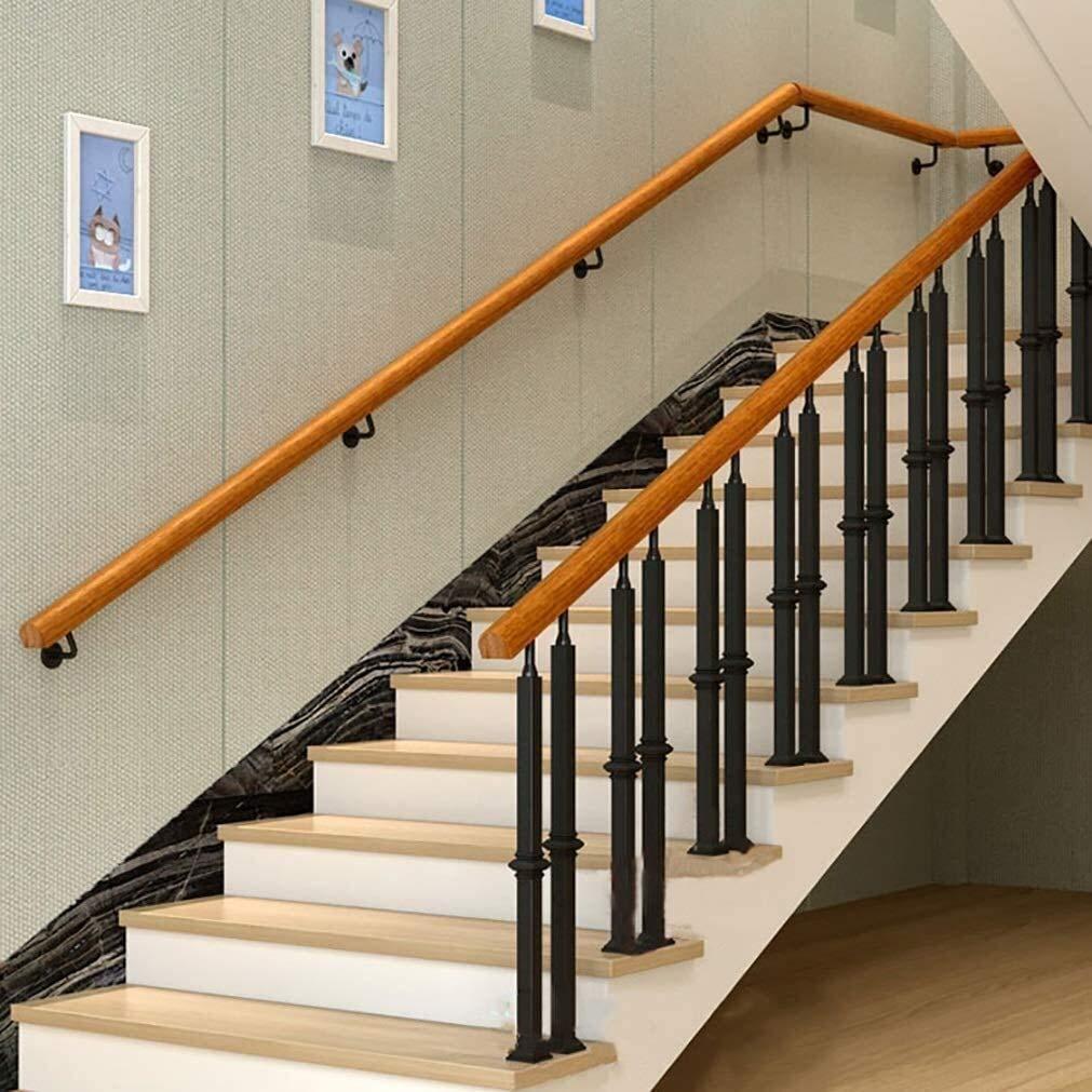Las escaleras interiores de edad avanzada anti Skid Kit completo sin barreras Escalera Barra de sujeción Pasamanos Pasamanos de pino 0711 (Size : 20ft/600cm): Amazon.es: Bricolaje y herramientas