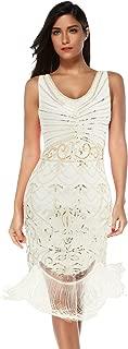 Women's Flapper Vintage Dresses 1920s Beaded Fringed Great Gatsby Dress