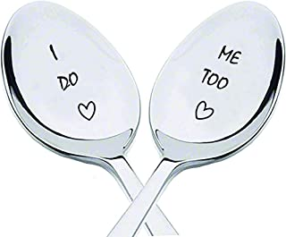 I Do, Me Too with little heart to Impressing gift for husband,Gift For Wife - Wedding Shower gift - Cute Spoon Gift - Enga...