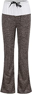 DressU Women's Casual Lace-up High-Rise Patched Yoga Palazzo Pants