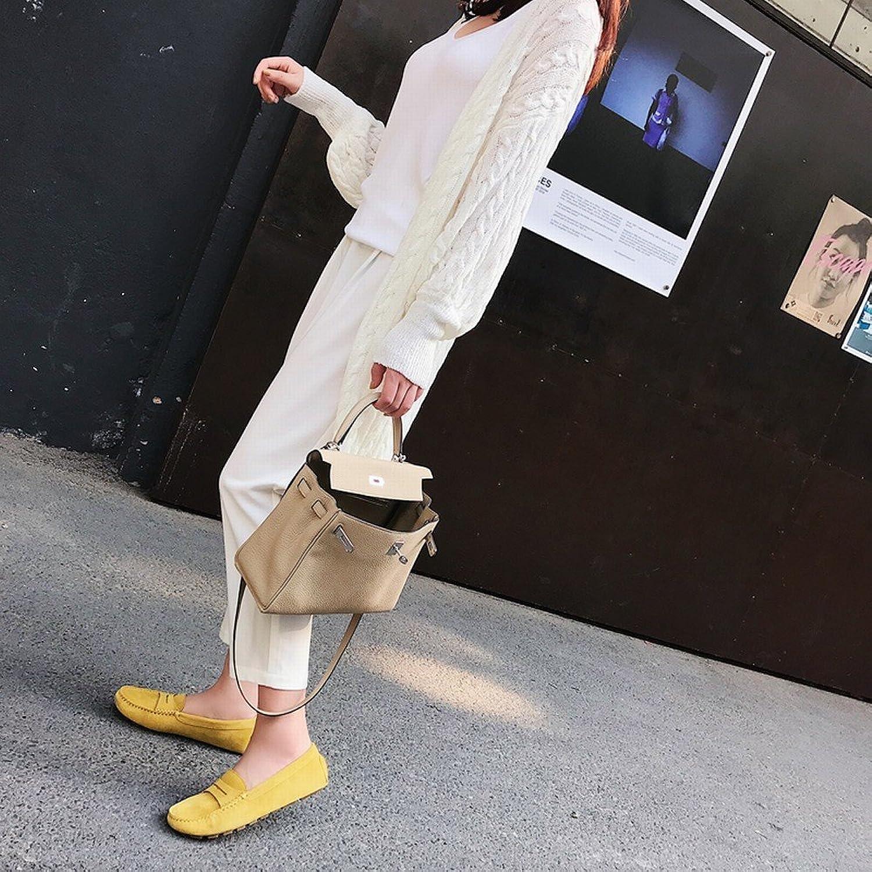 DHG e Runde Kopf Flache Erbsen Schuhe Schuhe Schuhe Ein Pedal Faule Schuhe Freizeitschuhe,Ein,34  67e3dd