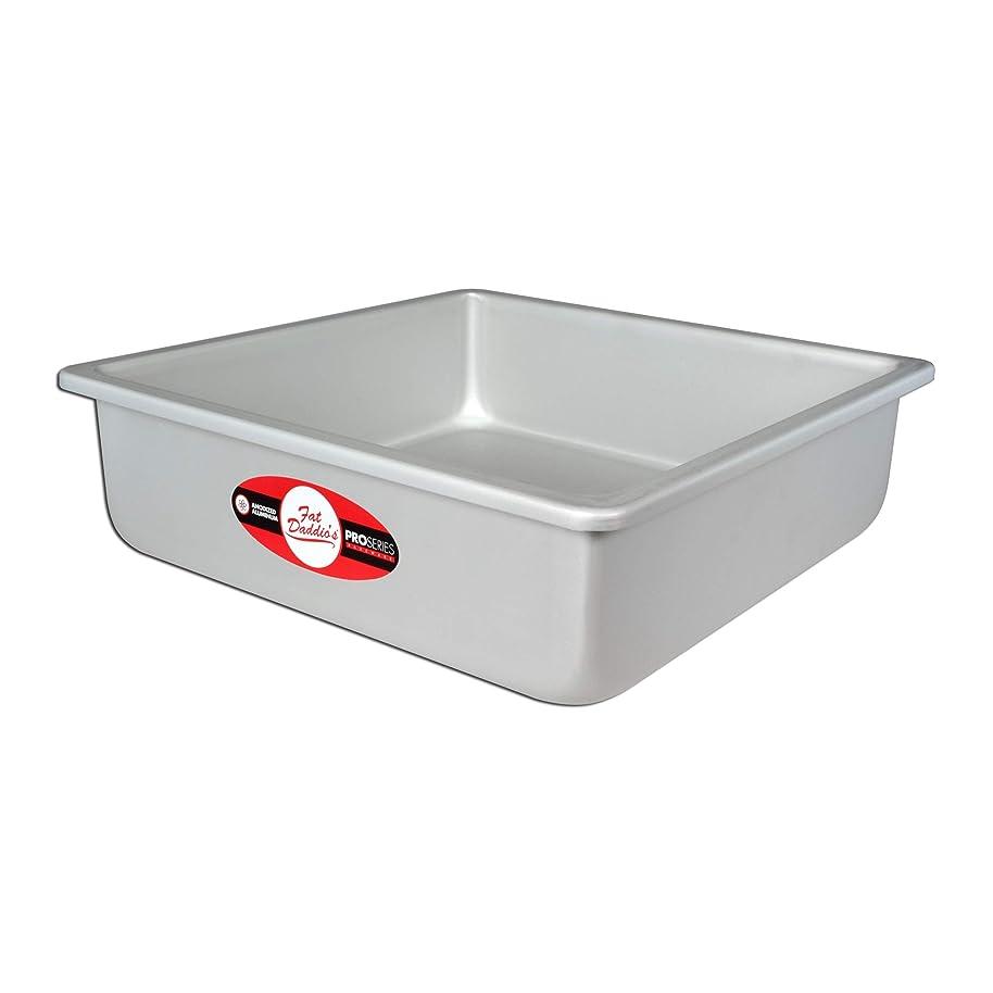 Fat Daddio's PSQ-993 Square Cake Pan, 9 x 3 Inch, Silver