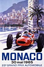 France - Monaco - 23e Grand Prix Automobile - (artist: Turner c. 1965) - Vintage Advertisement 60028 (16x24 SIGNED Print Master Art Print - Wall Decor Poster)