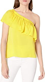 MILLY Women's One Shoulder Top
