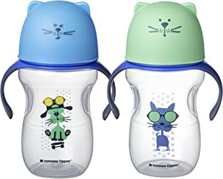 Tommee Tippee Natural Transition Soft Spout Sippy Cup, Boy - 12+ Months, 2pk, Blue & Green