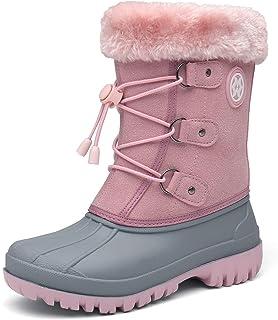 Bottes de Neige Fille Enfant Bottes Garçons Bottines Chaussures de Neige Fourrure Chaudes Bottines de Neige d'hiver léger ...