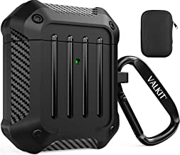 Valkit Compatible AirPods Case Cover for Men Women, Full-Body Rugged Protective Airpods Cover with Keychain Air Pod 2 Case...