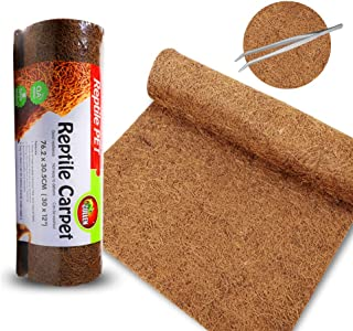 MCLANZOO 20gallon Reptile Carpet Mat, Coconut Fiber Liner,Snake Bedding,Lizard Cage Mat/Substrate for Snakes, Chameleons, ...