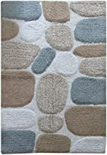 Chardin Home - 100% Pure Cotton Pebbles Bath Rug,  Large,  27'' W x 45'' L, Gray-Beige – Easy Care Machine Wash