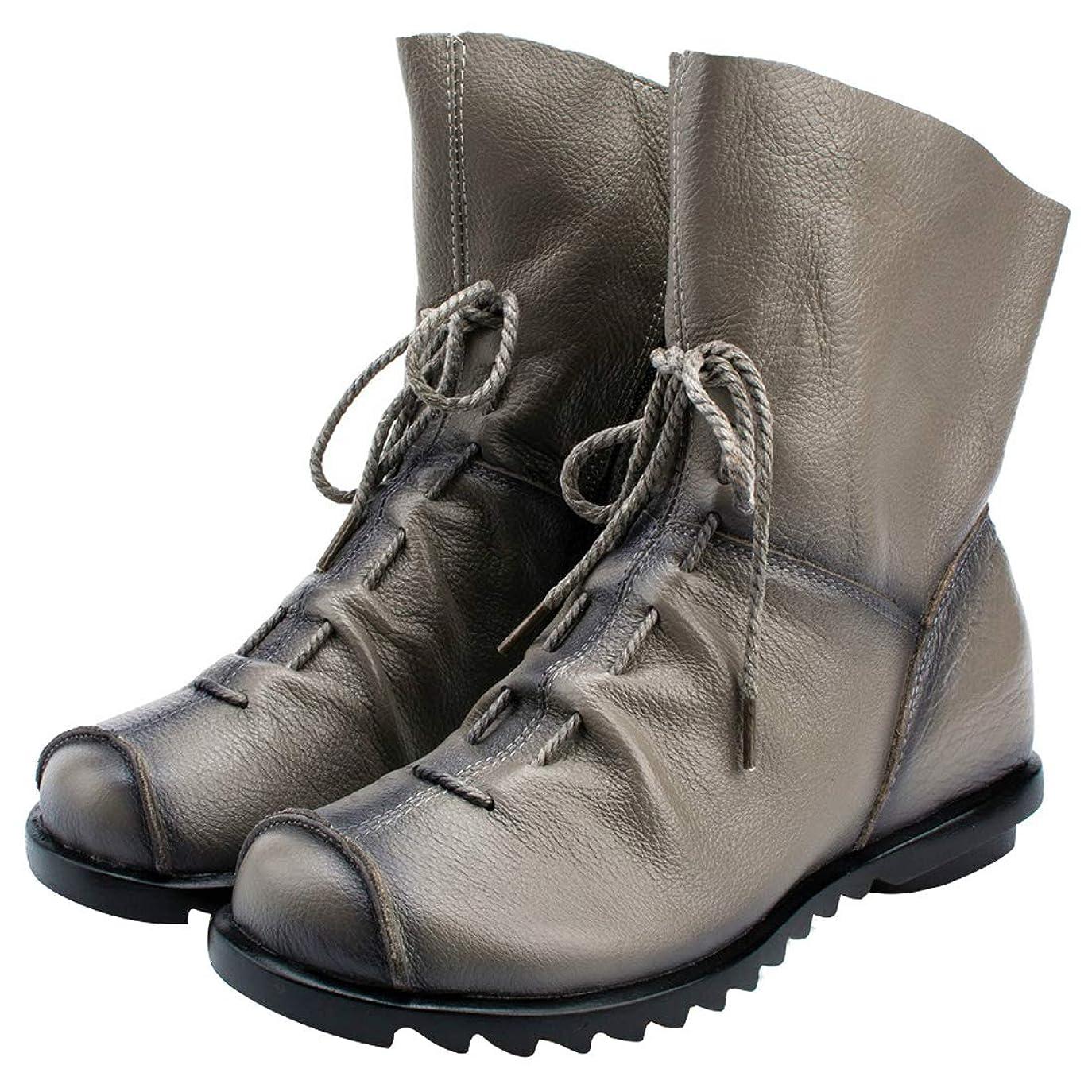 留まる描写スイス人[のグレープフルーツ プラム] レディース 新しい ショートの 本革ブーツ 学生は ブーツ マーティンブーツ(内で増加した) サイド ジッパー ハイヒールブーツ 大きなサイズ 4色 22.5-26.0
