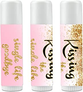 8ceb4df89af 12 Bridal Shower Lip Balms - Bachelorette Party Favors - Kissing the Single  Life Goodbye -