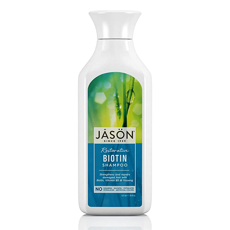 与える生まれ家主Jason Natural Products Natural Biotin Shampoo 473 ml (並行輸入品)