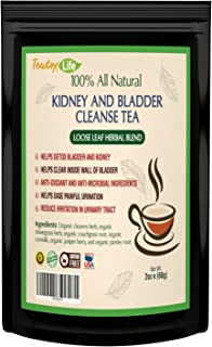 Kidney Cleanse Detox Tea with Parsley, Juniper Berries, Cleavers herb for Urinary Tract Health, Bladder and Kidneys - Organic Natural Herbal Supplement Flush Formula |USDA | Made in USA