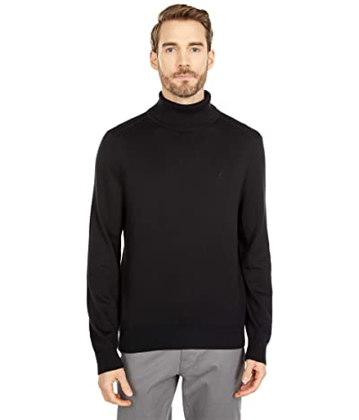 Nautica Navtech Knit Turtleneck Sweater (True Black) Men