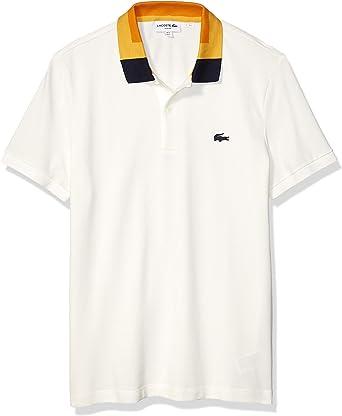 Lacoste Mens Short Sleeve Stretch Pima Pique Semi-Fancy Polo Shirt