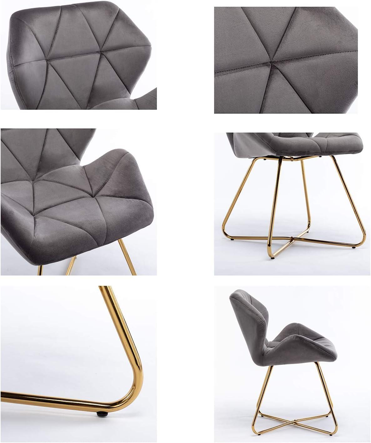 Glamexx24 Hallo Home® Lot de 2 chaises de Salle à Manger Chaise de Cuisine en Velours Chaise de Salon Fauteuil Chaise Visiteur Chaise Moderne Bleu Bleu