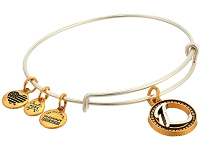 Alex and Ani Initial L Charm Bangle (Two-Tone) Bracelet