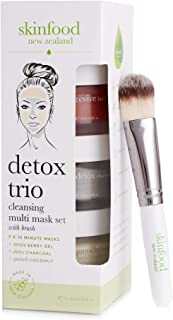 Skinfood Detox Face Cleansing Multi Mask Set with Brush