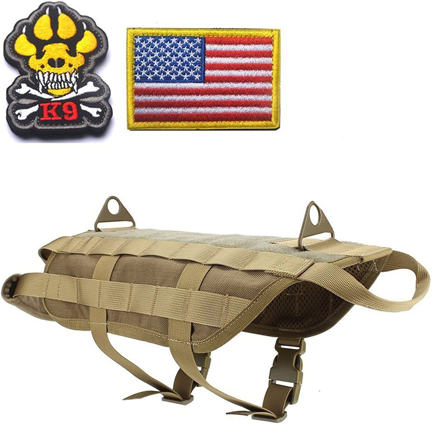 Lifeunion Tactical Police Military Dog Training Molle K9 Vest Harness for Training Hiking