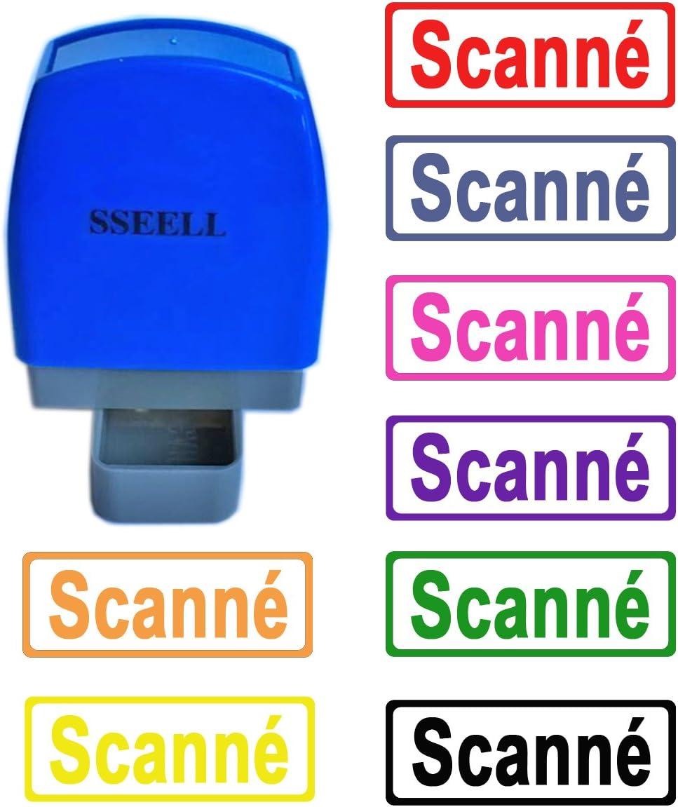Tampon Encreurs Auto-encreur Bureau self Cachet Stamp Office Pre Inking Timbre Noir SSEELL Ok