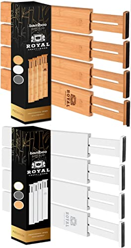 2021 Drawer Dividers popular 17IN Natural and White lowest colors outlet sale