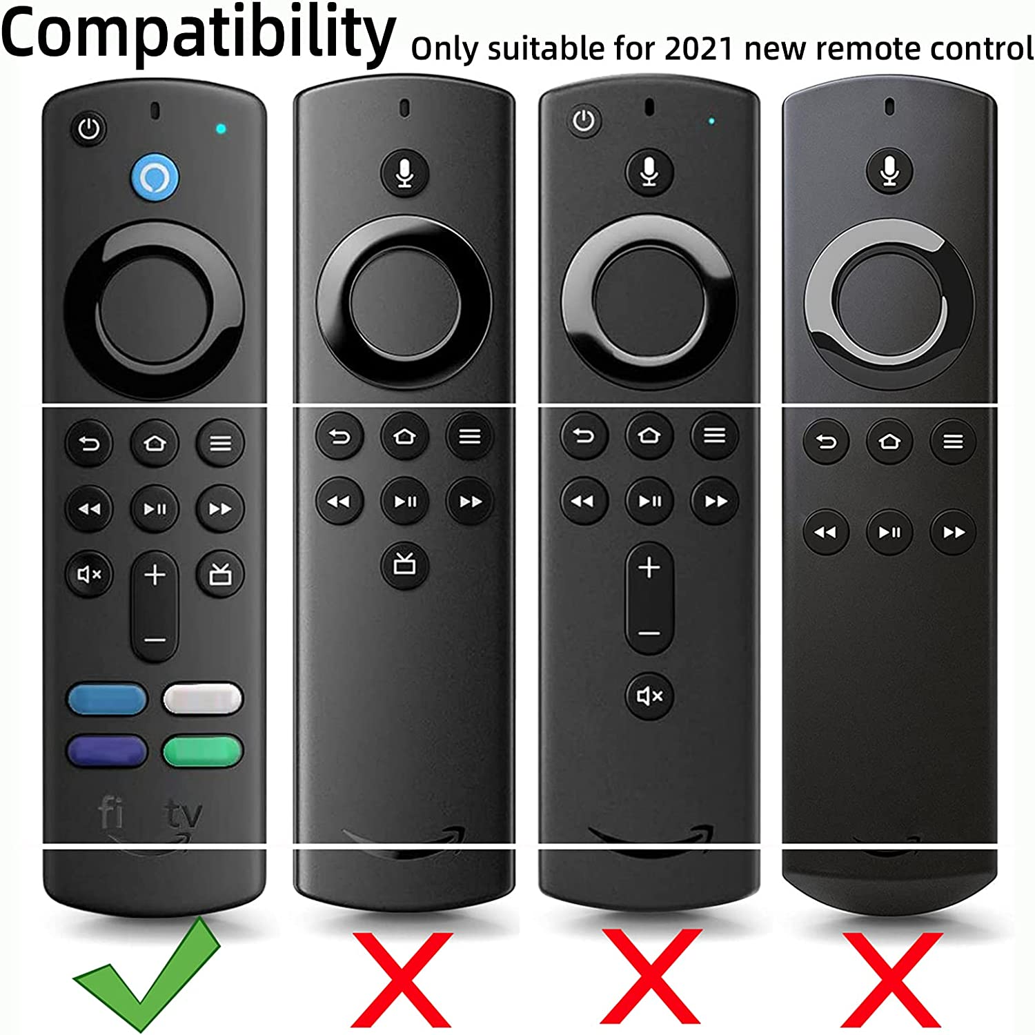 Remote Cover for TV Stick (3rd Gen) with Alexa Voice Remote Firestick Remote Cover for Firesticksticktv Silicone Protective Cover FireStickRemote Cover (Mint Green)