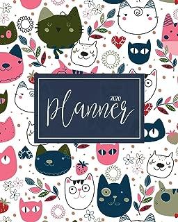 2020 Planner: Daily Weekly Monthly Calendar Planner | 12 Months Jan - Dec 2020 For Academic Agenda Schedule Organizer Logbook and Journal Notebook ... | cat Cover (Work Hard Dream Big) (Volume 20)
