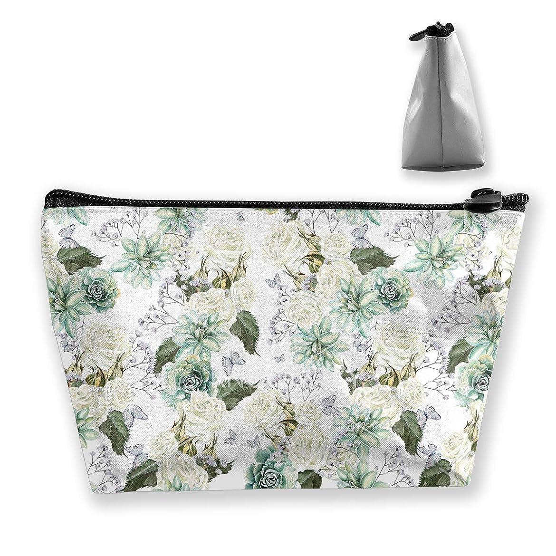見せますメンダシティ火山の台形 レディース 化粧ポーチ トラベルポーチ 旅行 ハンドバッグ 花柄パターン コスメ メイクポーチ コイン 鍵 小物入れ 化粧品 収納ケース
