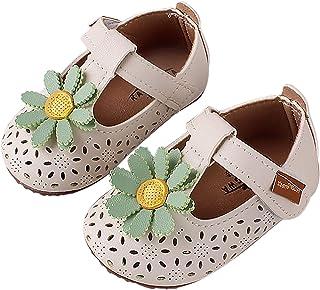 ZEZKT Bébé Filles Chaussures Princess,Semelle Souple Antidérapante,Tout-Petit Nouveau-né de 0-24 Mois, Chaussons Filles Se...