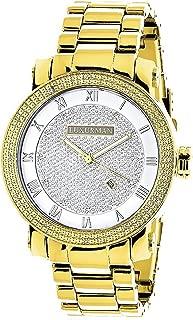 Mens Diamond Watch 0.12ctw of Diamonds by Luxurman