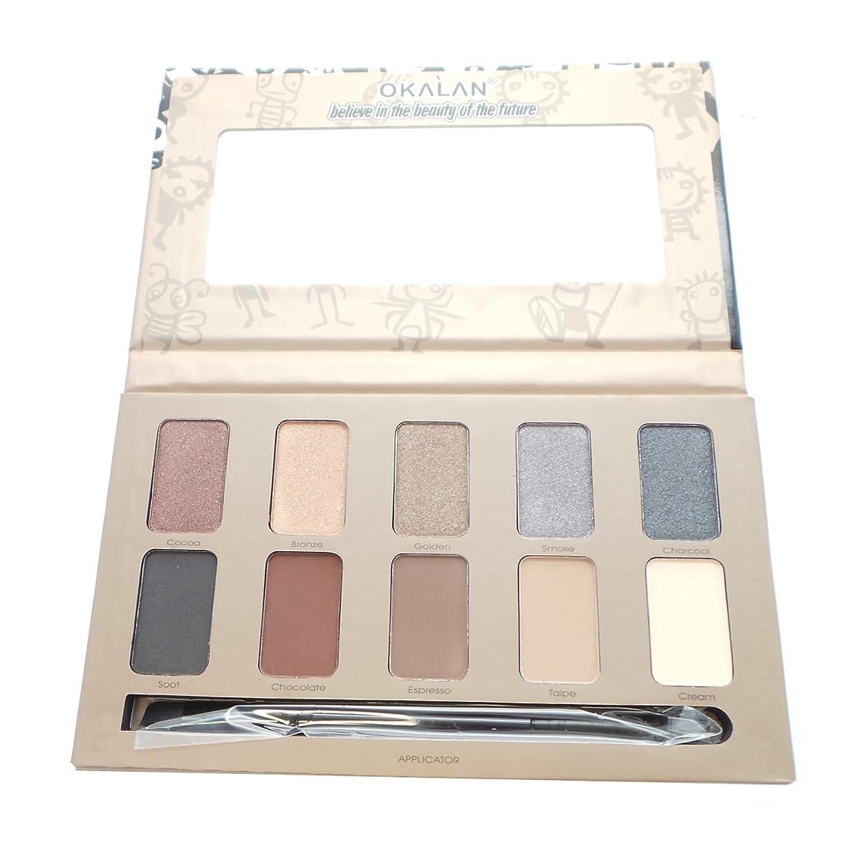 生むカルシウムより平らなOKALAN 10 Shade Natural Eyeshadow Palette - A (並行輸入品)
