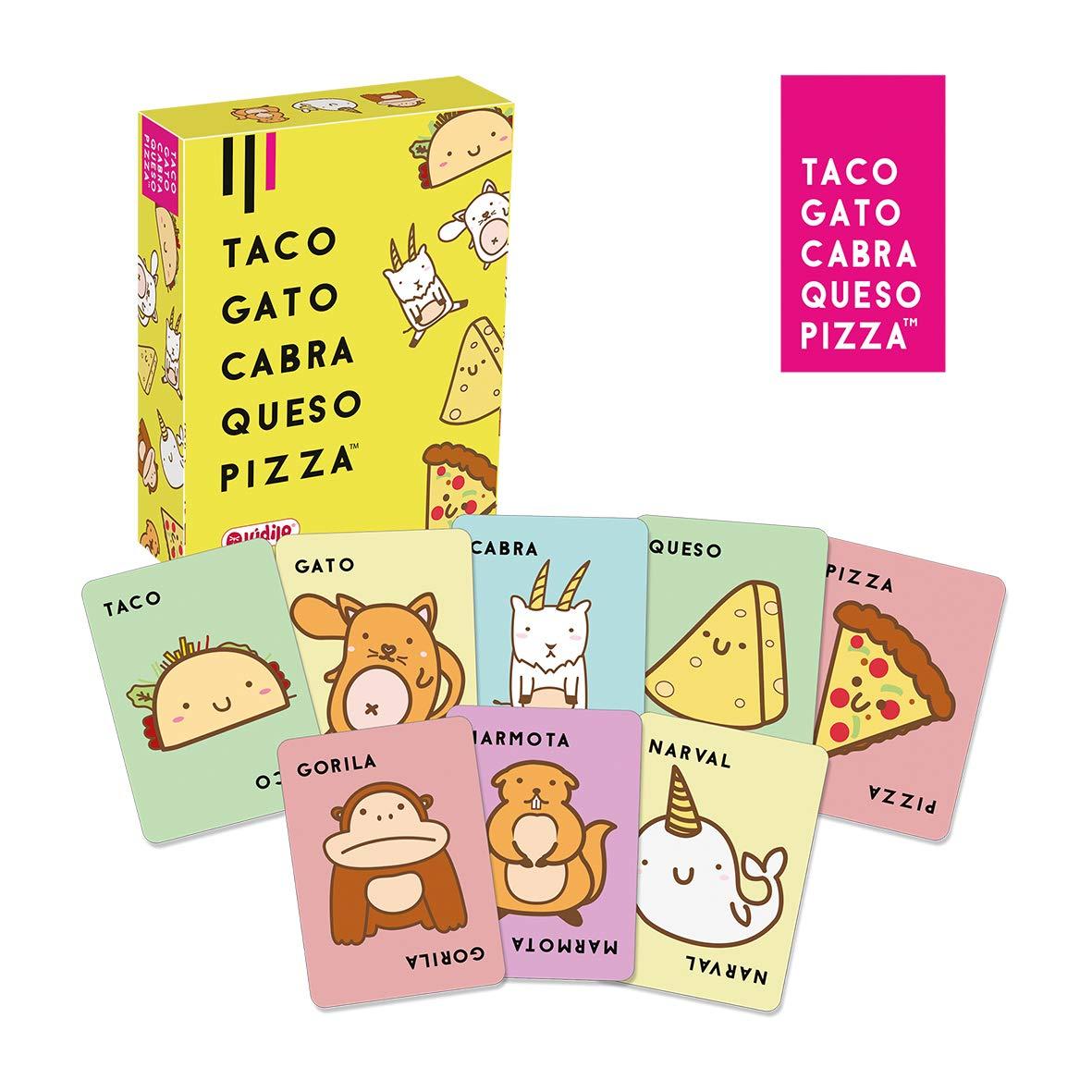 Taco, Gato, Cabra, Queso Pizza (Ludilo), Juego de mesa, Juegos de Cartas, Juegos Familiares: Amazon.es: Juguetes y juegos