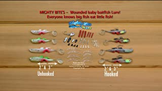 Mighty Bite Nano Kit - Worlds First Baby Baitfish Lure, Great Casting or Trolling for Trout, Panfish, Crappie, Bass