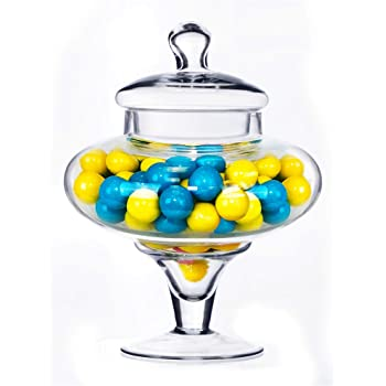 Cylinder with Lid Weddingstar Small Glass Apothecary Candy Jar