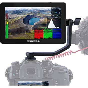 ANDYCINE A6 Plus 5.5inch Touch IPS 1920X1080 4K HDMI Camera Monitor 3D Lut,Waveform, Camera Video Field Monitor
