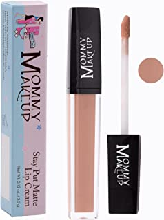 Stay Put Matte Lip Cream | Kiss-Proof Matte Lipstick - Paraben Free - Ginger, a rosy nude
