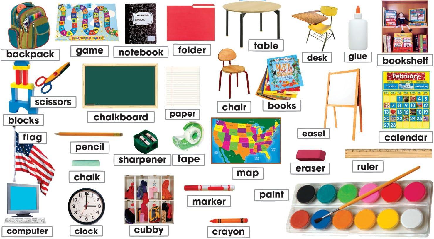 Classroom Photos Labels Mini Bulletin TF8084 Board Time sale Classic