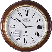 Seiko Wall Clock (31.4 cm x 31.4 cm x 4.4 cm, Brown, QXA143BN)