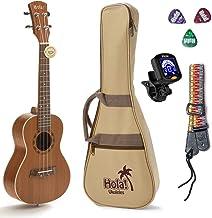 Concert Ukulele Bundle, Deluxe Series by Hola! Music (Model HM-124MG+), Bundle Includes: 24 Inch Mahogany Ukulele with Aqu...
