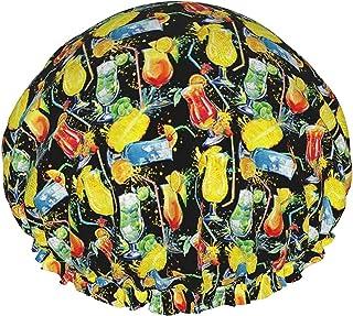 Akwarelowe koktajle wodoodporna czapka prysznicowa z elastycznym obszyciem dwustronna konstrukcja do prysznica czapka do s...