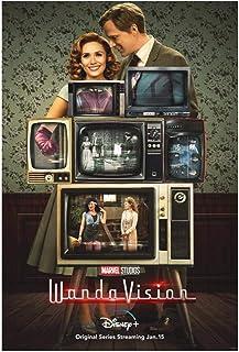 Vscdye WandaVision Films Classiques Affiches et Impressions Art Toile Peinture décor Art Affiche Impression sur toile-50x7...