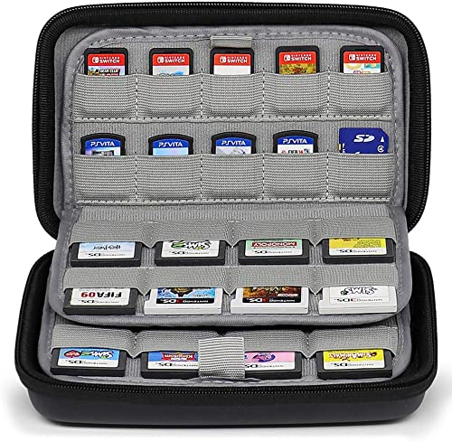 Sisma 72 Game Card Holders Storage Case for 40 Switch PS Vita Games and 32 Nintendo 3DS 2DS DS Game Cartridges - Black