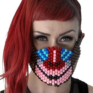 Kandi Gear Mascara Kandi de Mono, mascara de rave, mascara de halloween, mascara de cuentas, mascara de musica electronica, festivales de musica y fiestas