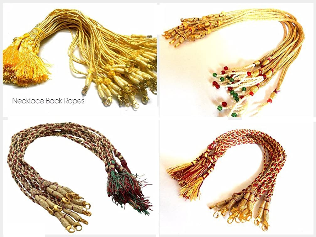 AM Necklace Back Rope Dori 4 Different Styles Combo For Silk Thread /Terracota Jewelery, Quilling