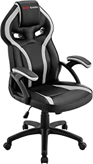 Mars Gaming MGC118 Silla Gaming Ergonómica en PU y Nylon, Regulable, Blanco, L