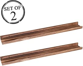 AZSKY Denver Modern Wall Mount Floating Shelves Long Narrow Picture Ledge - 36 Inch Set of 2 Mounting Hardware Included for bedrooms,Office,Living Room, Kitchen