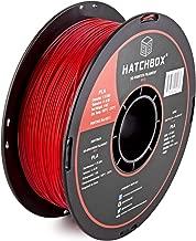 HATCHBOX PLA 3D Printer Filament, Dimensional Accuracy +/- 0.03 mm, 1 kg Spool, 1.75 mm, Red