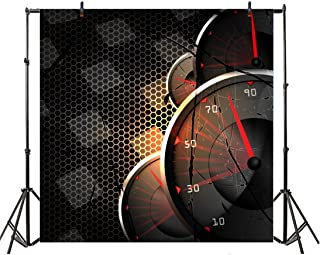 Leyiyi 6x6ft Photography Background Racing Car Backdrop Happy Birthday Chequered Flag Speed Up Racing Broken Dash Board Enthusiation Mechanical Motorcar Party Cowboy Photo Portrait Vinyl Studio Prop