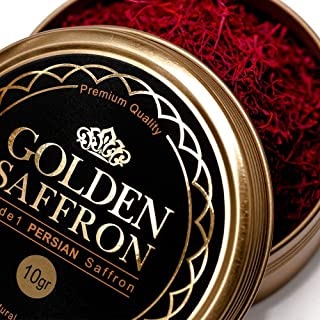 Sponsored Ad - Golden Saffron, Finest Pure Premium All Red Saffron Threads, Grade A+, Highest Grade Saffron For Tea, Paell...